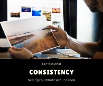 consistency selling photos online