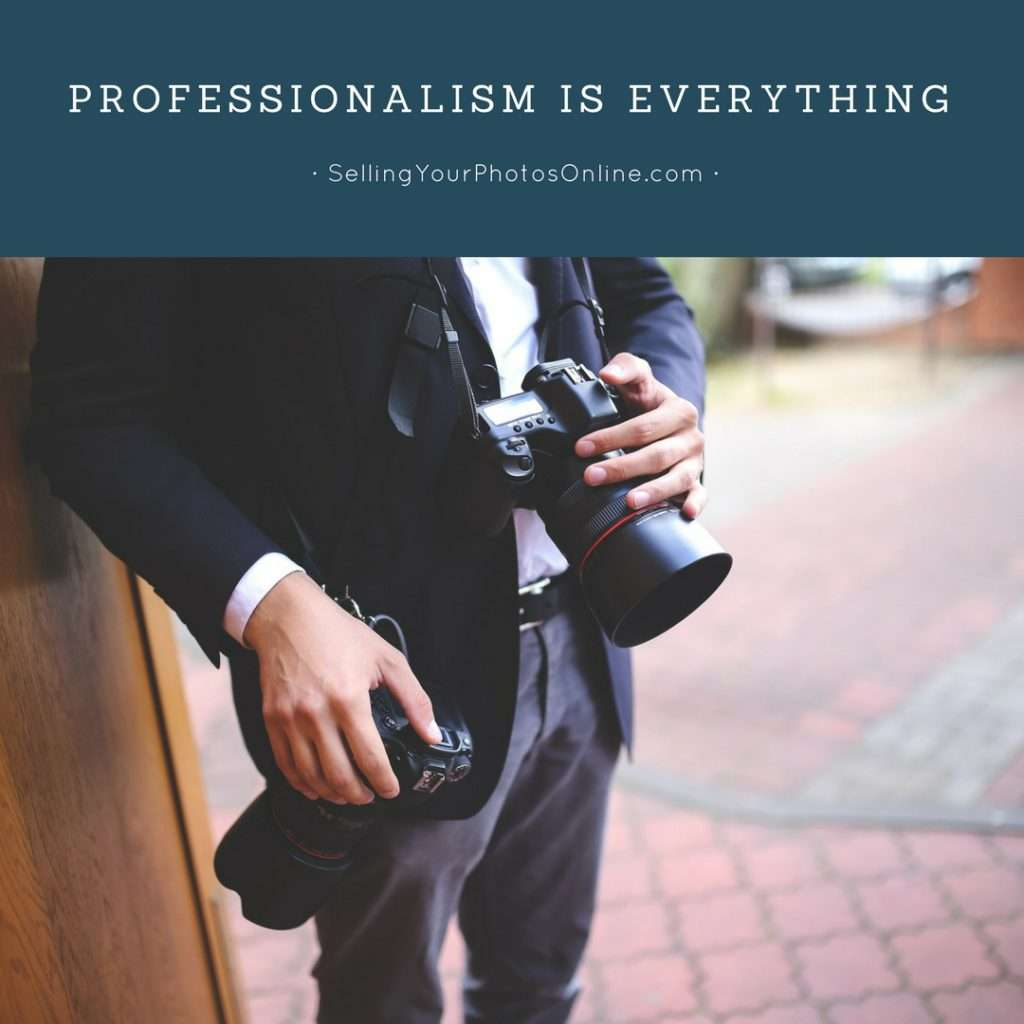 professionalism selling your photos online