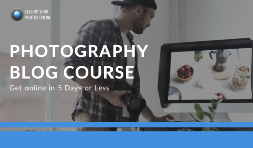 start a photography website fast